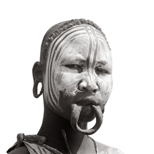 Mursi, Omo Valley, Ethiopia- Fine Art Black and White photography. Glen Green