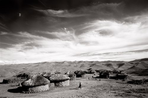 Lesotho Village - Fine Art Black and White photography-Glen Green Photography