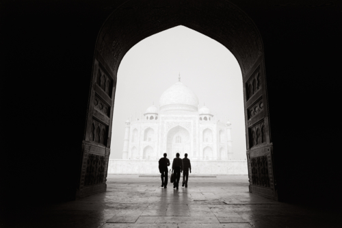 Taj Mahal, India- Fine Art Black and White photography. Glen Green Photography
