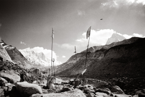 Source of the Ganges, India- Fine Art Black and White photography. Glen Green Photography