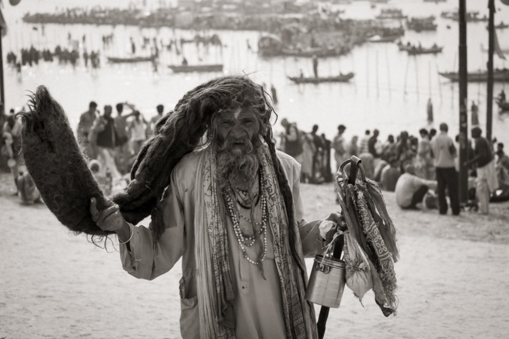 Kumbh Mela, India- Fine Art Black and White photography. Glen Green Photography